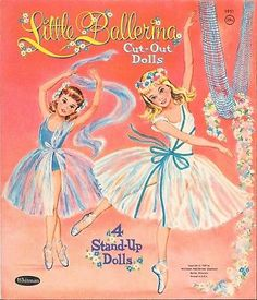 Vintage Whitman 1951 Little Ballerina Paper Dolls 1959 Cut with Folder Vintage Paper Dolls, Vintage Toys, Vintage Ballet, Vintage Dance, Famous Artists Paintings, Retro Images, Little Ballerina, Painted Books, My Baby Girl