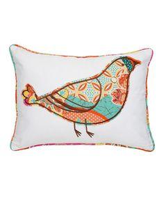 Bird Zanzibar Pillow #zulily #zulilyfinds