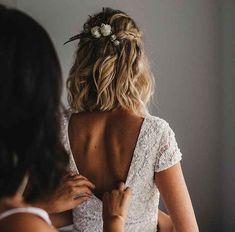 boho wedding hair 36 Best Wedding Hairstyles Ideas F. - boho wedding hair 36 Best Wedding Hairstyles Ideas For Medium Hair - Romantic Wedding Hair, Wedding Hair And Makeup, Dream Wedding, Wedding Weekend, Luxury Wedding, Wedding App, Wedding Rings, Wedding Summer, Casual Wedding