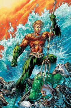 Aquaman dominando Lanterna Verde