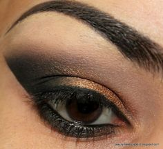 Smokey eye copper and black 1 of 2