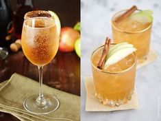 Cocktail Night, Cocktail Drinks, Cocktails, Fall Drinks Alcohol, Alcoholic Drinks, Fabulous Foods, Yummy Drinks, Food Inspiration, Apple Pie
