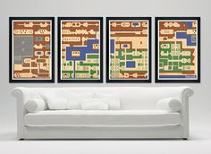 Legend of Zelda Hyrule game map poster 12x18 by SPACEBARdesigns, $49.00