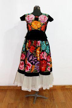 Traje de Gala de Terciopelo negro Vintage Frida por shkaalavintage