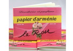 La Rose was created by Francis Kurkdjian, a well known French Armenian perfumer in 2006 for Papier d'Arménie. La Rose is a unique natural incense like room deodorizer with oriental and rose notes made into white perfumed paper strips which can also be used as a drawer fragrance. $9.95 Great gift idea http://www.hostilebacon.com.au/collections/lifestyle/products/papier-d-armenie-la-rose