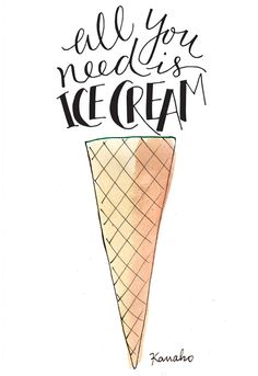 All you need is #icecream. #Kanako, #MyLittleParis #quotes #my #little #paris