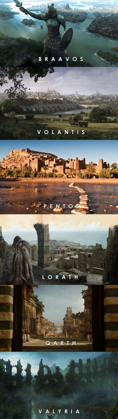 Song of Ice & Fire : Essos - some Free Cities, Qarth and the Old Valyria.
