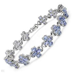 Bracelet With 9.52ctw Genuine Tanzanites Crafted in 925 Sterling silver. Total item weight 16.3g Length 7in Unknown. $169.50