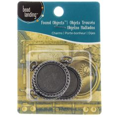 This item is sold individually in store.<br><br>Use these Charm Bezels by Bead Landing™ with gla...