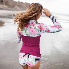 Seea x Anthropologie Vintage Rose Hermosa Swim Shirt.