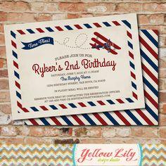 Hey, I found this really awesome Etsy listing at https://www.etsy.com/listing/230312406/vintage-airplane-birthday-invitation