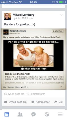 Randers Kommune oversælger vist Digital Post en smule her