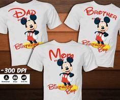 Camiseta de cumpleaños de Mickey Mouse para familia-Mickey