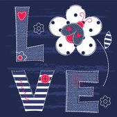 Cute kid background with letters and ladybug for baby shower, greeting card, t-shirt design Scrapbooks, Ladybug Cartoon, Kids Background, Love Bugs, Love Wallpaper, Love Words, Baby Boy Outfits, Cute Kids, Babe
