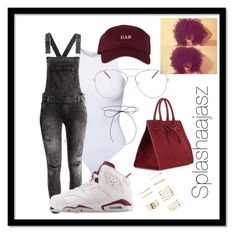 """""""Dab."""" by splashaajasz ❤ liked on Polyvore featuring Estradeur, NIKE, The High Rise, Forever 21, Lilou and Mansur Gavriel"""
