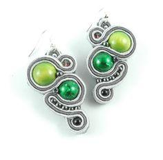 #kolczyki #surasz #soutache na DaWanda.com Gemstone Rings, Turquoise, Gemstones, Etsy, Jewelry, Jewlery, Gems, Jewerly, Green Turquoise