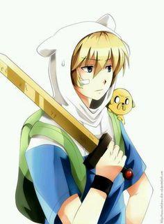 Finn anime style.  - Adventure Time