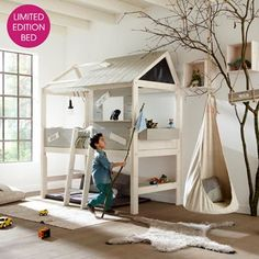 LIMITED EDITION LIFE HOUSE KIDS CABIN BED with Step Ladder
