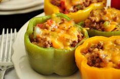 Make and share this Ground Beef Stuffed Green Bell Peppers With Cheese recipe from Food.com.