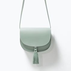 LEATHER MESSENGER BAG WITH TASSELS - Woman - NEW THIS WEEK | ZARA United States