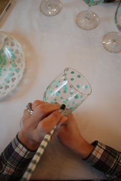 Diy Polka Dot Wine Glasses