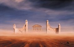 Keith Alexander, Casino South African Artists, Paintings I Love, Illustration Sketches, Surrealism, Sketching, Monument Valley, Deserts, Places To Visit, Concept