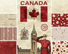 Sew Sisters Quilt Shop: Canadian Sesquicentennial from Northcott Fabrics