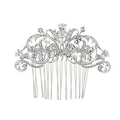 Bridal Cubic Zirconia Scrolls Wedding Crystal Comb *** See this great product. (This is an affiliate link and I receive a commission for the sales)