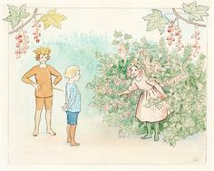 Elsa Beskow 1874-1953 Illustration for children's story.