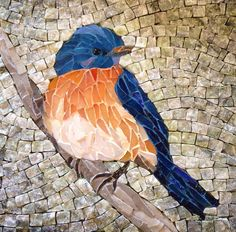 Lee Ann Petropoulos' Fine Art Mosaics (smalti, stained glass and marble). To enhance fine detailing in this square piece, several different colors of grout were used. Mosaic Garden Art, Mosaic Tile Art, Mosaic Artwork, Pebble Mosaic, Mosaic Crafts, Mosaic Projects, Mosaic Glass, Glass Art, Sea Glass