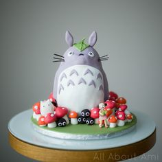 Brielle's Totoro Birthday Cake!  See how we made it from scratch!