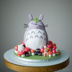 Picture Of DIY Totoro birthday cake