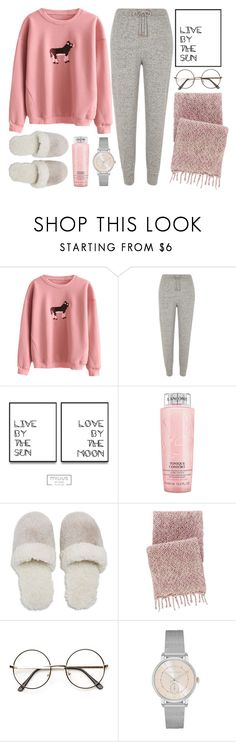 """""""Sweet Dreams"""" by monmondefou ❤ liked on Polyvore featuring River Island, Lancôme, Natori, Pine Cone Hill, Trussardi and Pink"""