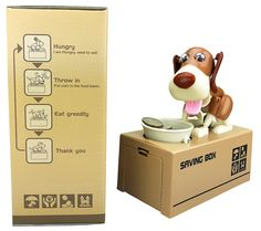 Amazon.com: Liberty Imports My Dog Piggy Bank - Robotic Coin Munching Toy Money Box: Toys & Games