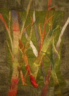 Nuno Felting, Needle Felting, Color Harmony, Wool Felt, Arts And Crafts, Gallery, Creative, Artist, Painting