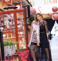 Style Meligan |   Dress lover under a silver jacket By @Msgm