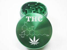 Metal Herb Grinder THC Molecule with Marijuana by TheTreeCompany