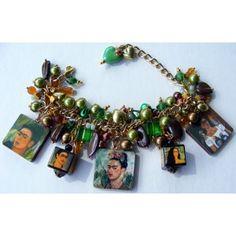 Frida Kahlo, picture charm bracelet. £23