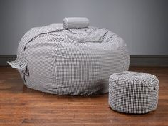 #Lovesac's Black Friday Sale!  Save 50% on this Black and White Flannel Supersac Package + get Fast, Free Shipping!  #BlackFriday #Deals #Sale #Ultimategift #Holidays