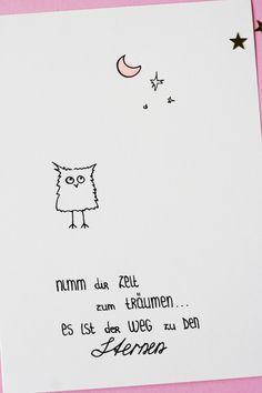 Nimm dir Zeit zum Träumen. Es ist der Weg zu den Sternen. Bild mit Motivationsspruch. Some Joys Blog.