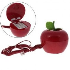 Creative Telephone Set with Apple Shape KXT-888 (Red) $8.86