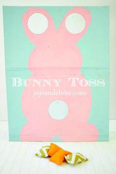 Repurposing a Cardboard Box into a Bunny Toss Game + Diy Bean Bags