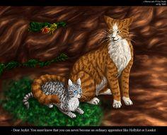 Jaykit and Leafpool by Vialir.deviantart.com on @deviantART