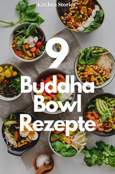 9 Buddha Bowl recipes for your everyday office routine - Lunch Ideen - Rezepte New Recipes For Dinner, Vegan Dinner Recipes, Lunch Recipes, Healthy Dinner Recipes, Soup Recipes, Vegetarian Recipes, Chicken Recipes, Kitchen Recipes, Keto Recipes