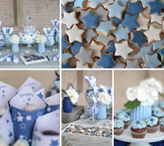 Let the stars shine! Baby Shower Fun, Baby Shower Favors, Baby Boy Baptism, Christening, Food Art, Table Decorations, Stars, Birthday, Gifts