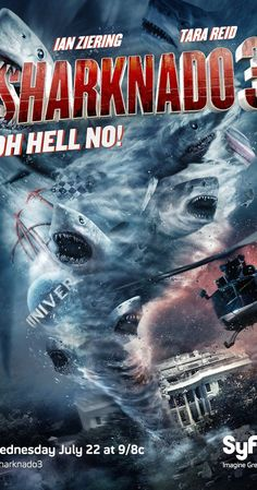 Directed by Anthony C. Ferrante.  With Ian Ziering, Tara Reid, Cassandra Scerbo, Frankie Muniz. A monstrous tornado unleashes ravenous sharks from Washington, D.C., all the way down to Orlando, Florida.
