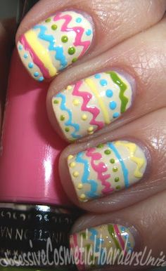 "Nail Candy ""Live Colorfully"" Pens Review Plus Some Easter Nail Art! #nails DIY NAIL ART DESIGNS"