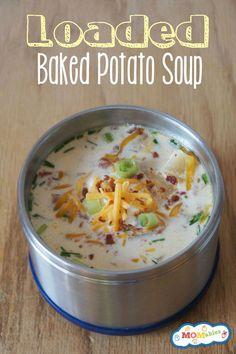Loaded Baked Potato Soup sooooo gooood!!!.