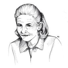 La philosophie au féminin 2/3 - Élisabeth Badinter #badinter #drawing #dessin #portrait #illustration #philosophy #artwork #lineart #staedler