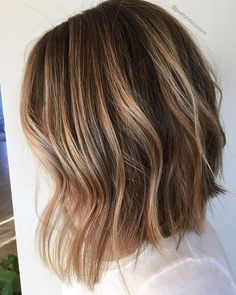 Long Brown Balayage Bob